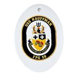 USS Kauffman FFG-59 Navy Ship Oval Ornament