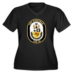 USS Kauffman FFG-59 Navy Ship Women's Plus Size V-