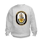 USS Kauffman FFG-59 Navy Ship Kids Sweatshirt