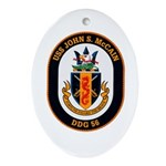 USS John McCain DDG-56 Navy Ship Oval Ornament