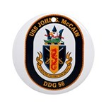 USS John McCain DDG-56 Navy Ship Ornament (Round)