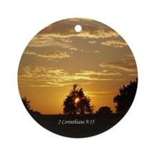 Sunset Bible Verse Ornament (Round)