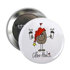 """Coffee-Aholic 2.25"""" Button"""
