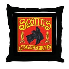 Scottie's Aberdeen Ale Throw Pillow