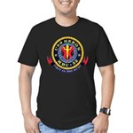 USS Heron MHC-52 Navy Ship Men's Fitted T-Shirt (d