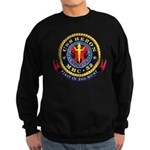 USS Heron MHC-52 Navy Ship Sweatshirt (dark)