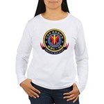 USS Heron MHC-52 Navy Ship Women's Long Sleeve T-S
