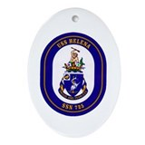 USS Helene SSN-725 Navy Ship Oval Ornament