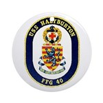 USS Halyburton FFG-40 Navy Ship Ornament (Round)