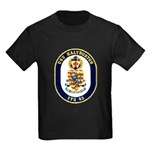 USS Halyburton FFG-40 Navy Ship Kids Dark T-Shirt