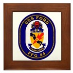 USS Ford FFG-54 Navy Ship Framed Tile