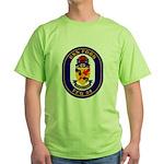 USS Ford FFG-54 Navy Ship Green T-Shirt