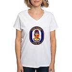 USS Ford FFG-54 Navy Ship Women's V-Neck T-Shirt