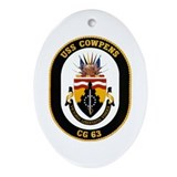 USS Cowpens CG-63 Navy Ship Oval Ornament