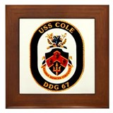 USS Cole DDG-67 Navy Ship Framed Tile