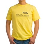 Scott Designs Ceiling Cat Yellow T-Shirt