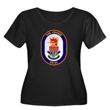 USS Chosin CG 65 Navy Ship Women's Plus Size Scoop