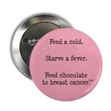 "Feed Chocolate to Breast Cancer 2.25"" Button (100"