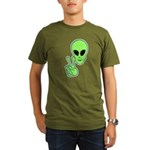 Peace Alien Organic Men's T-Shirt (dark)