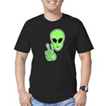 Peace Alien Men's Fitted T-Shirt (dark)