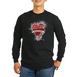 Heart Samurai Long Sleeve Dark T-Shirt