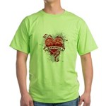 Heart Samurai Green T-Shirt