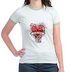 Heart Samurai Jr. Ringer T-Shirt