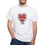 Heart Samurai White T-Shirt