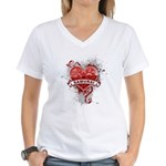 Heart Samurai Women's V-Neck T-Shirt