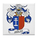 M&#243;les Coat of Arms Tile Coaster