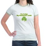 I'm Lucky- My Girlfriend's Irish Jr. Ringer T-Shir