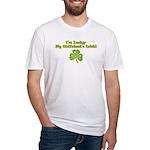 I'm Lucky- My Girlfriend's Irish Fitted T-Shirt