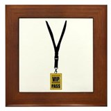 VIP Pass Framed Tile