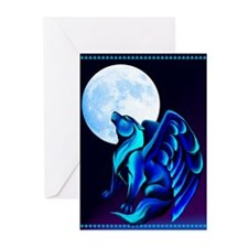 Fantasy Wolf Greeting Cards (Pk of 20)