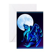Fantasy Wolf Greeting Card