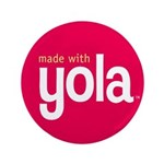 """Made with Yola"" Button: Large"