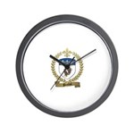 POULIOT Family Crest Wall Clock