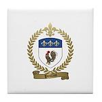 POULIOT Family Crest Tile Coaster