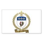 POULIOT Family Crest Rectangle Sticker 50 pk)