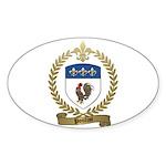 POULIOT Family Crest Oval Sticker