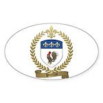 POULIOT Family Crest Oval Sticker (50 pk)