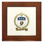 POULIOT Family Crest Framed Tile