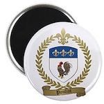 "POULIOT Family Crest 2.25"" Magnet (100 pack)"
