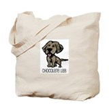Chocolate Lab Tote Bag