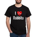 I love Rabbits for Rabbit (Front) Black T-Shirt