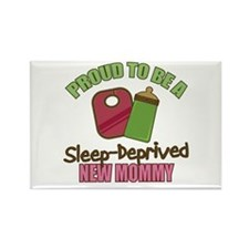Sleep-Deprived Mom Rectangle Magnet (10 pack)