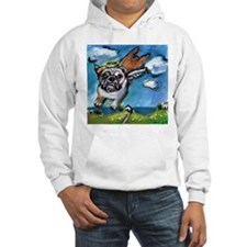 English Bulldog angel flys fr Hoodie