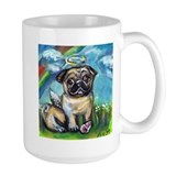 Pug angel dog with pink kon Mug