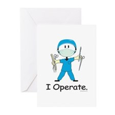 BusyBodies Surgeon Greeting Cards (Pk of 10)