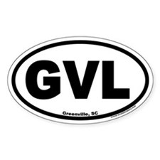 Greenville South Carolina GVL Euro Oval Decal